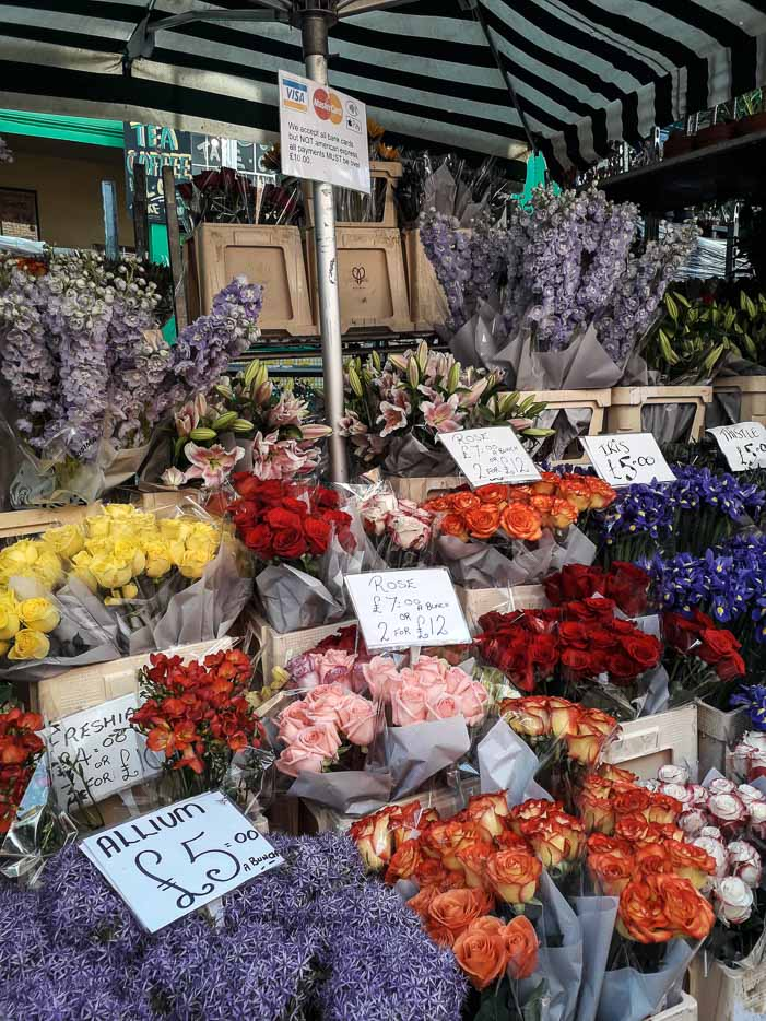 The most colorful address of London: Columbia Road Flower Market