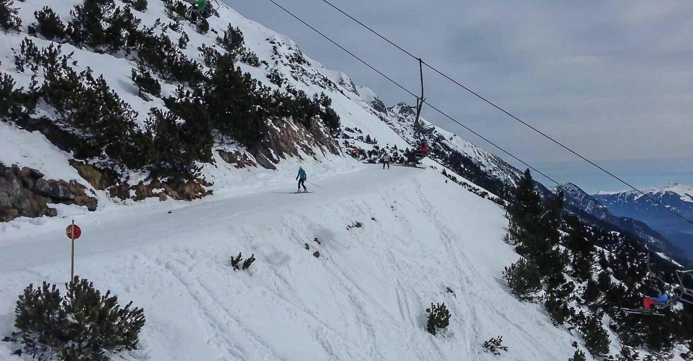 Skiing in the Alps of Tirol in Austria