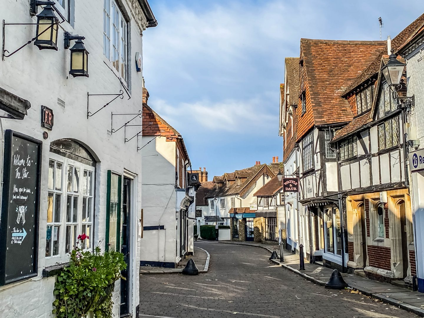Walk in the quaint village of Godalming in Surrey