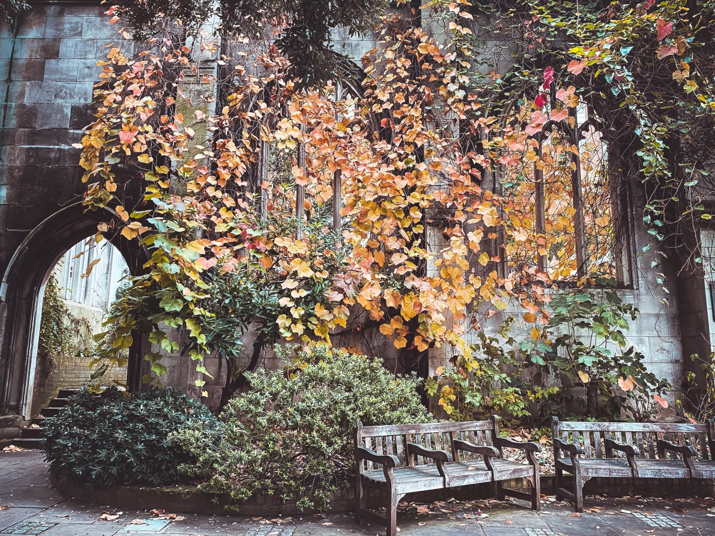 Autumn vibes in St Dunstan in the East